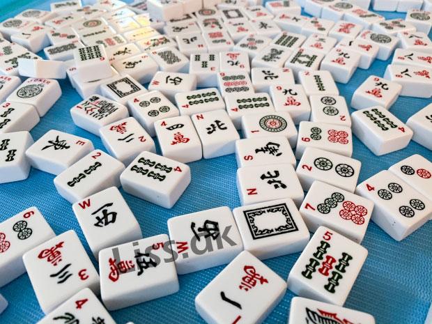Smukke Mahjong brikker