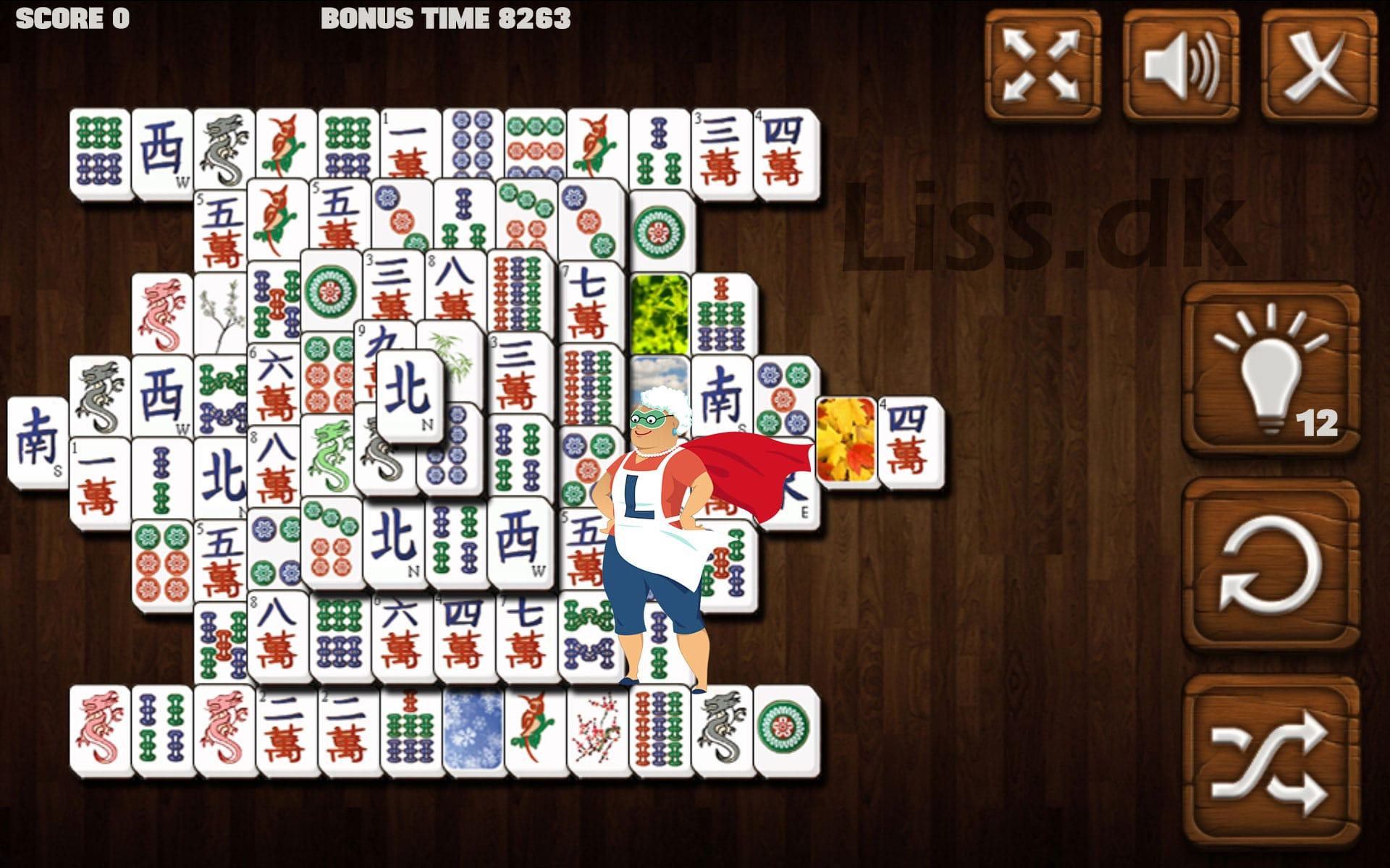Mahjong regler og spilleplade