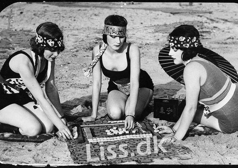 Mahjong kan spilles Online og på Stranden