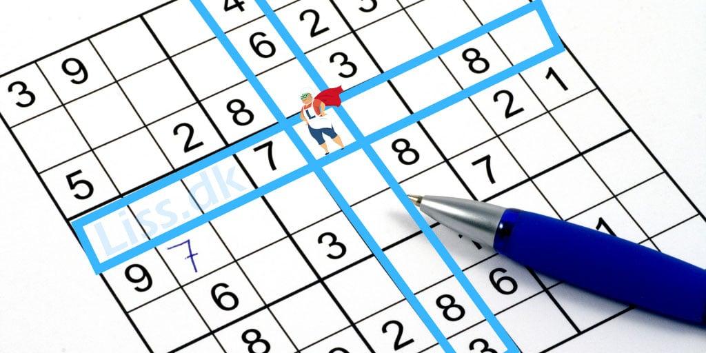Rækker og kolonner i Sudoku
