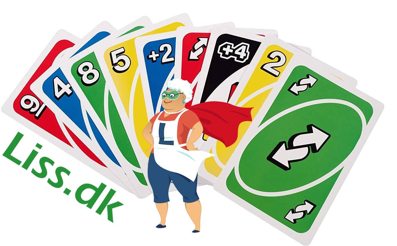 Flotte UNO spille kort, farverne jeg elsker.